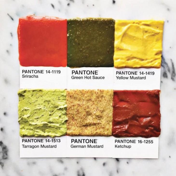 Pantone в продуктах питания - Кулинарные новости