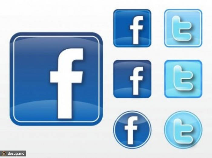 Facebook twitter icon vector free