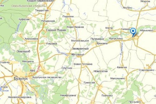 Карта Бузулука Скачать