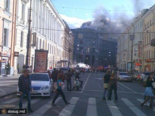 В Санкт-Петербурге загорелось здание государственного университета