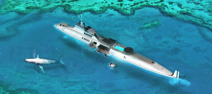 Яхта-субмарина Migaloo Private Submersible Yacht