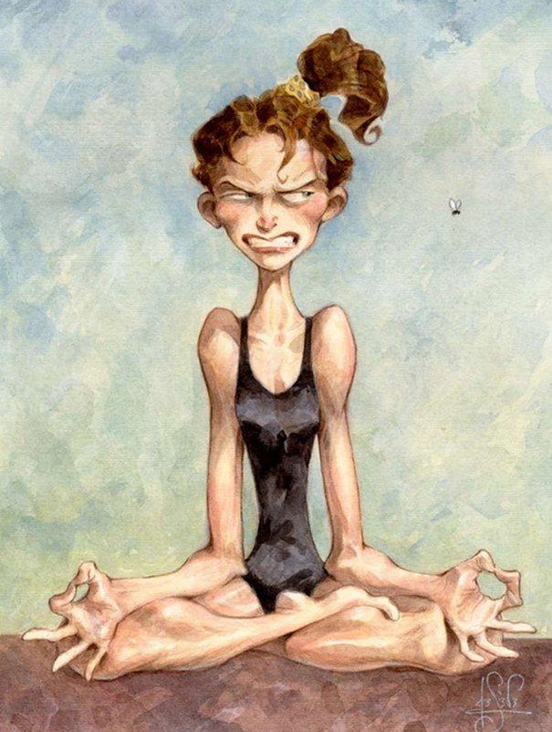 Веселые картинки по йоге, открытки