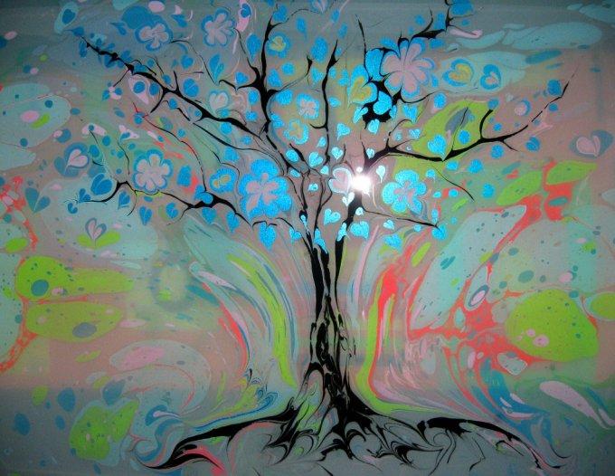 Краски для рисования на воде в домашних условиях