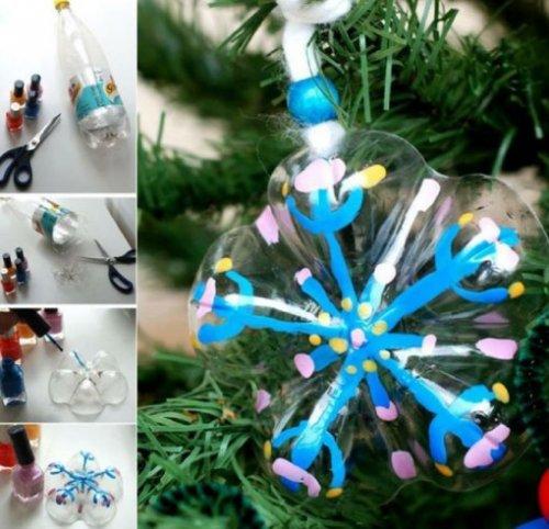 Как сделать ёлочную игрушку из подручных средств