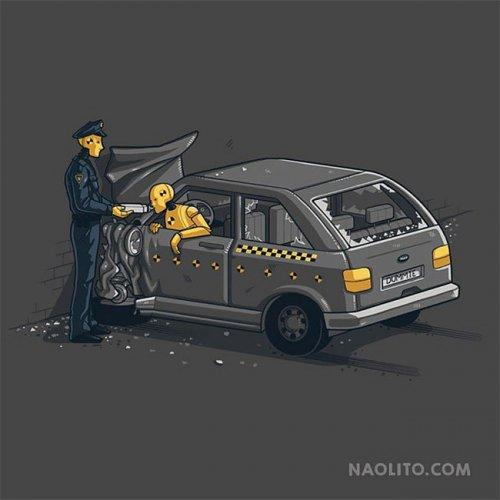 Иллюстрации техники секса в автомобиле