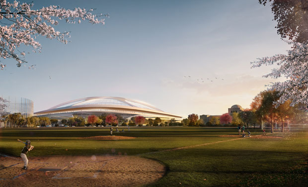 Стадион в Японии от Zaha Hadid Architects